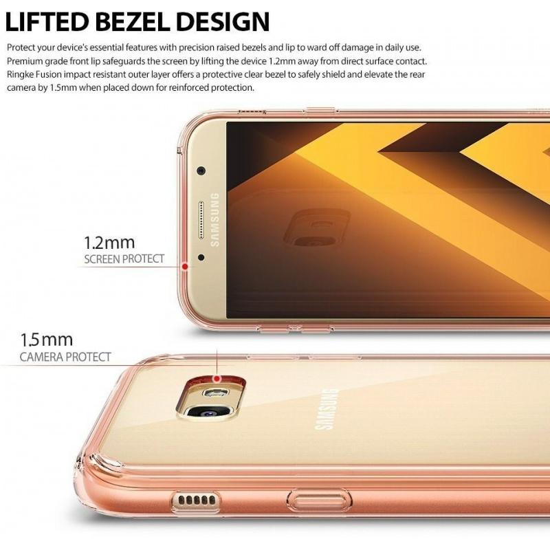 Ringke Fusion Samsung Galaxy A3 2017 Rose Gold Crystal
