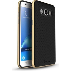 iPaky Premium Hybrid Galaxy J5 2016 Gold + Glass Screen Protector