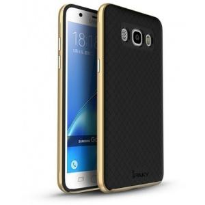 Etui iPaky Premium Hybrid Samsung Galaxy J5 2016 Gold + Szkło