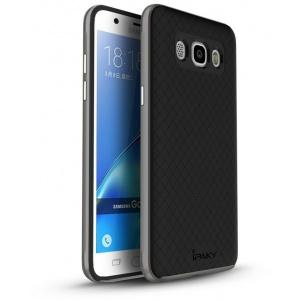 iPaky Premium Hybrid Galaxy J7 2016 Grey + Glass Screen Protector