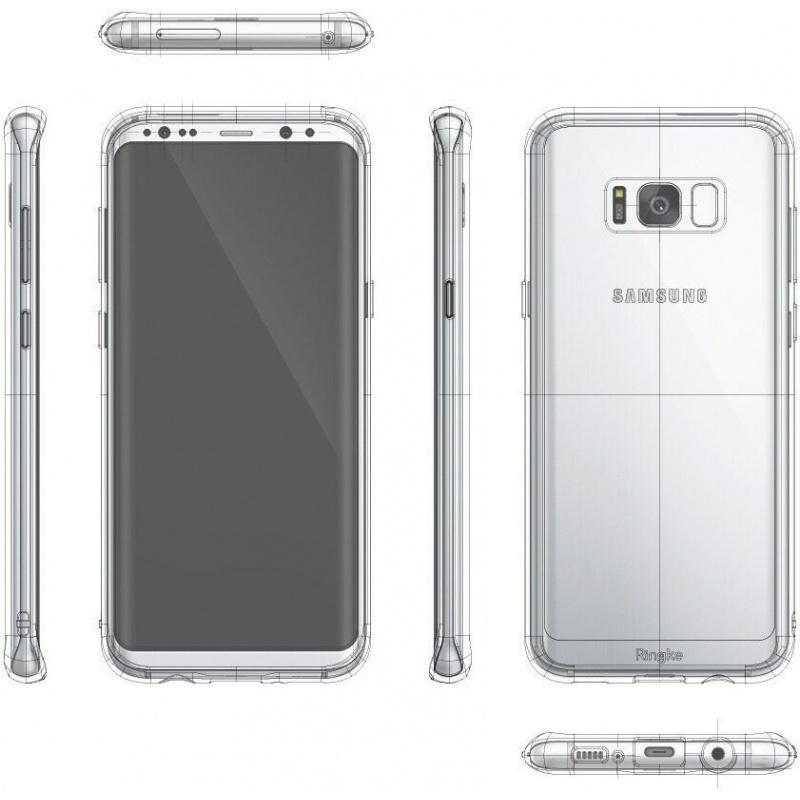 Etui Ringke Fusion Samsung Galaxy S8 Rose Gold Crystal