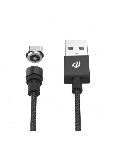 Kabel Magnetyczny Wsken Round USB-C Black