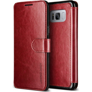Etui VRS Design Layered Dandy Galaxy S8 Wine