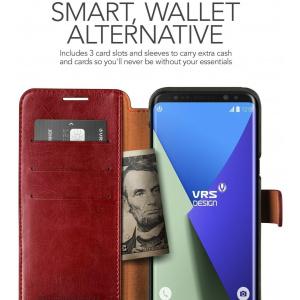 Etui VRS Design Layered Dandy Galaxy S8 Plus Wine