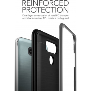 Etui VRS Design High Shield Pro LG G6 Steel Silver