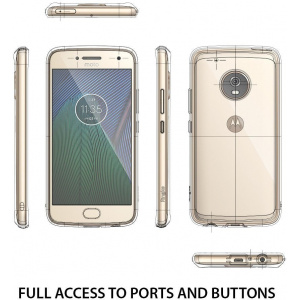 Etui Ringke Fusion Moto G5 Plus Crystal View