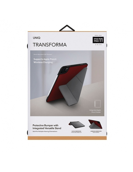 Etui UNIQ Transforma Rigor Apple iPad Pro 11 (2020) czerwony/coral red