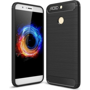 Etui HS Case SOLID TPU Huawei Honor 8 Pro Black + Szkło