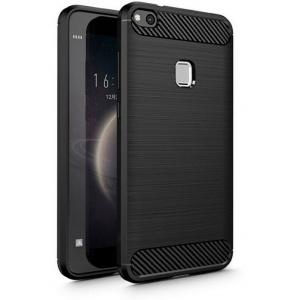 Etui HS Case SOLID TPU Huawei P10 Lite Black + Szkło