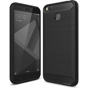 Etui HS Case SOLID TPU Xiaomi Redmi 4X Black + Szkło