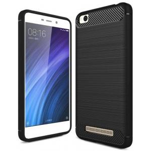 HS Case SOLID TPU Xiaomi Redmi 4A Black + Szkło