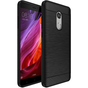 HS Case SOLID TPU Xiaomi Redmi Note 4/4X Black + Szkło