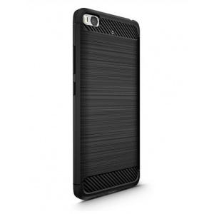HS Case SOLID TPU Xiaomi Mi5S Black + Szkło