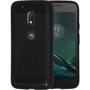 Etui HS Case SOLID TPU Moto G4 Play Black + Szkło