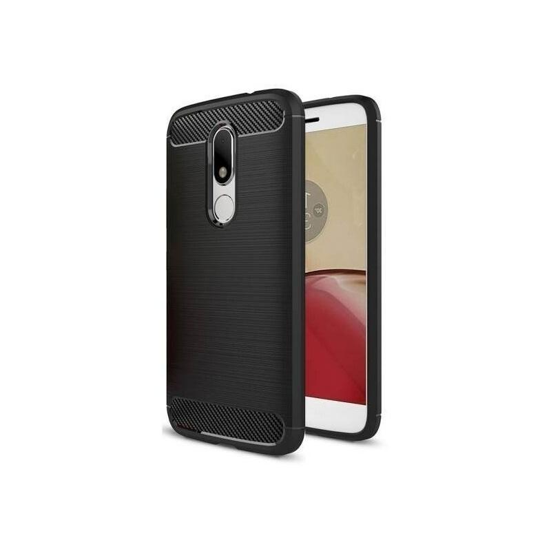 Etui HS Case SOLID TPU Moto M Black + Szkło