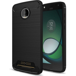 HS Case SOLID TPU Moto Z Play Black + Szkło