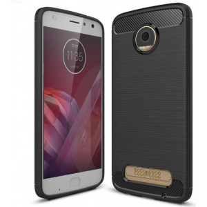 HS Case SOLID TPU Moto Z2 Play Black + Szkło