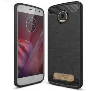 Etui HS Case SOLID TPU Moto Z2 Play Black + Szkło