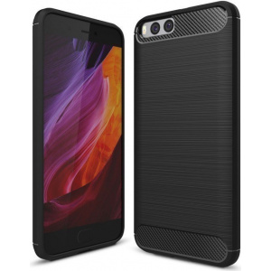 HS Case SOLID TPU Xiaomi Mi6 Black + Szkło