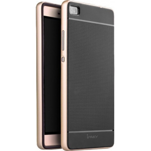 iPaky Premium Hybrid Huawei P8 Gold + Glass Protector