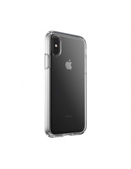 Etui Speck Presidio Perfect-Clear iPhone Xs / X z powłoką MICROBAN Clear