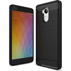 HS Case SOLID TPU Xiaomi Redmi 4X Black + Szkło