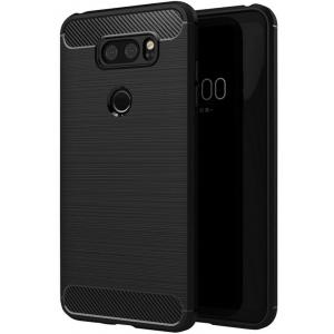 Etui HS Case SOLID TPU LG V30 Black + Szkło