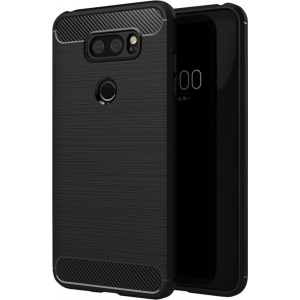 HS Case SOLID TPU LG V30 Black + Screen Protector