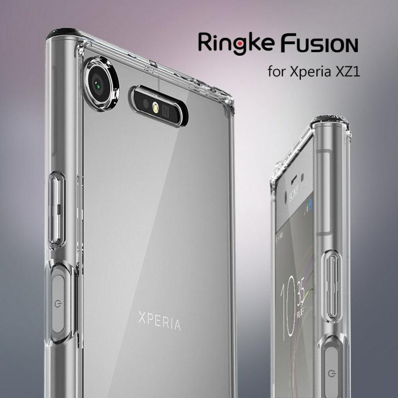 Etui Ringke Fusion Xperia XZ1 Compact Smoke Black