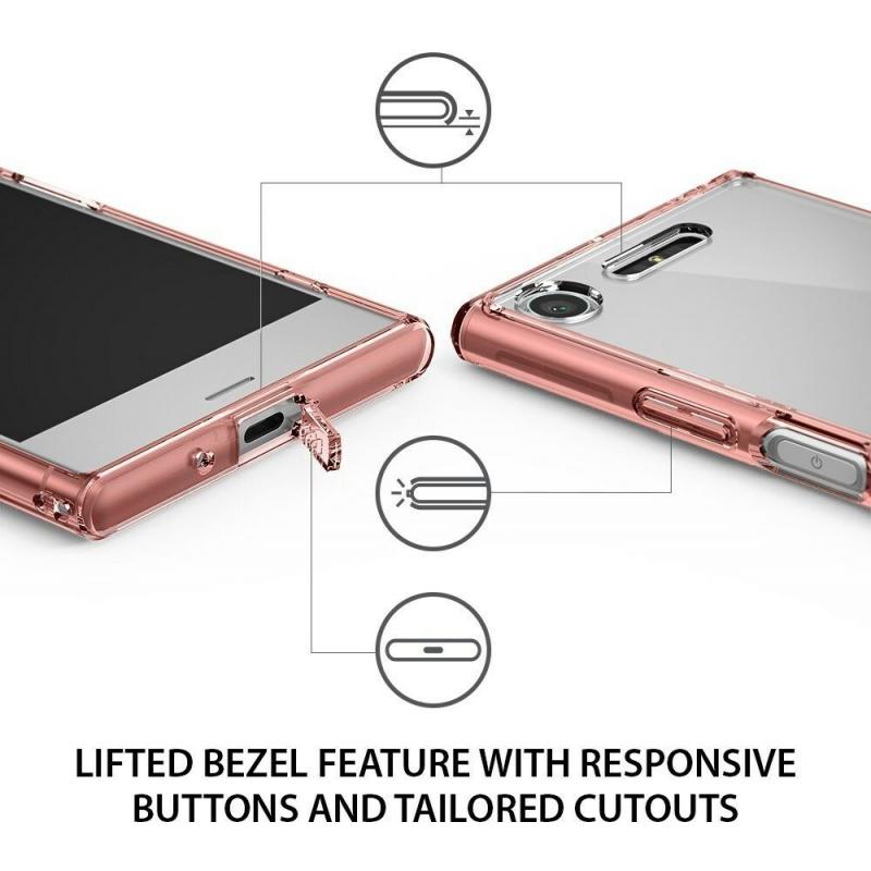 Etui Ringke Fusion Xperia XZ1 Compact Rose Gold