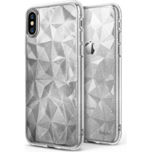 Etui Ringke Air Prism Glitter iPhone X Clear