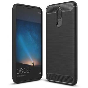 HS Case SOLID TPU Mate 10 Lite Black + Screen Protector