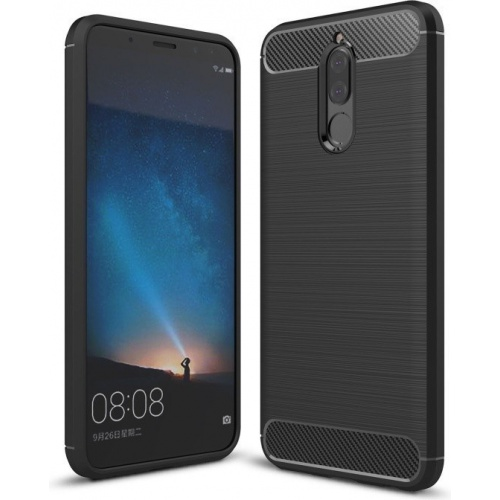 HS Case SOLID TPU Mate 10 Lite Black + Screen Protector
