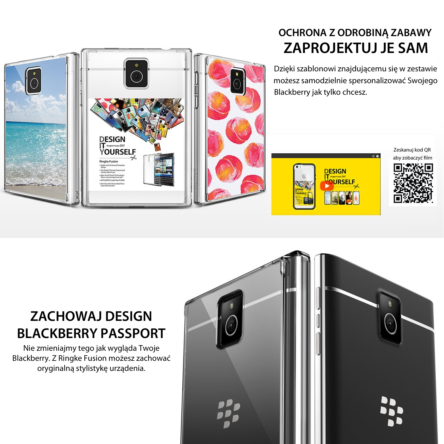 etui rearth ringke fusion Blackberry passport