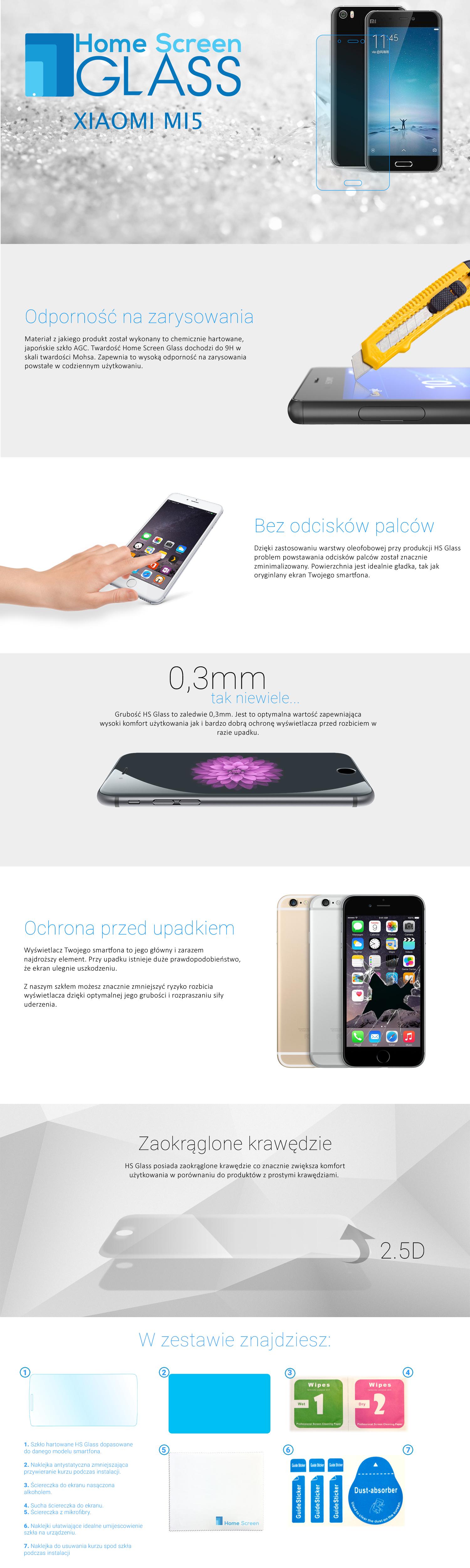 szkło hartowane Xiaomi Mi5
