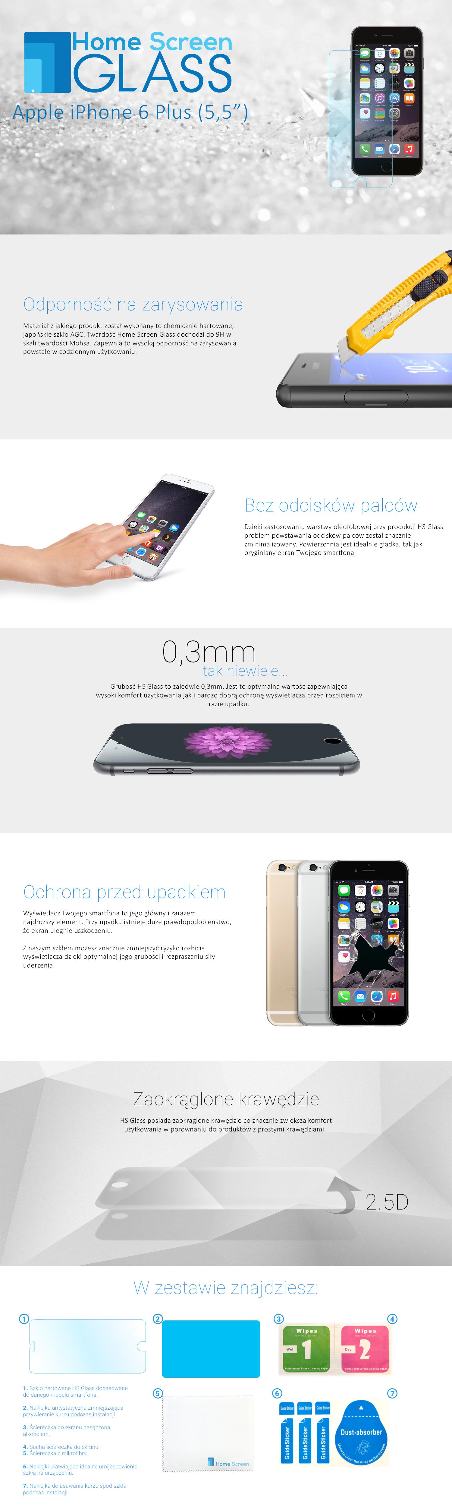 iphone 6 plus szkło hartowane benks nillkin